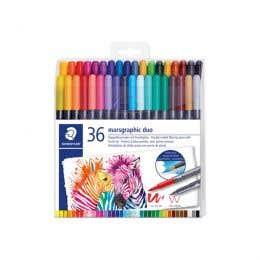 STAEDTLER Marsgraphic Duo Watercolour Brush Pen Sets