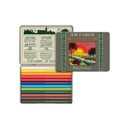 Faber-Castell 111th Anniversary Polychromos Short Coloured Pencil Tin