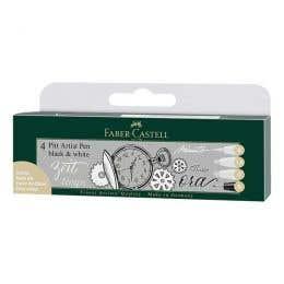 Faber-Castell Pitt Artist Black & White Pen Set
