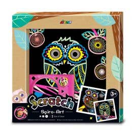 Avenir Scratch Spiro Art Owl Kit