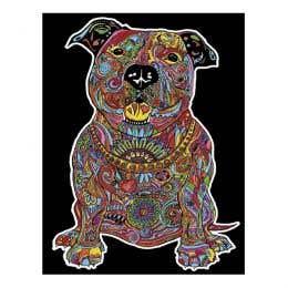 Colorvelvet Flocked Art Posters Large Dog