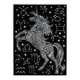 Colorvelvet Flocked Art Posters Large Unicorn