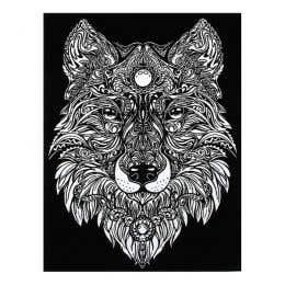 Colorvelvet Flocked Art Posters Large Wolf