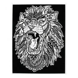 Colorvelvet Flocked Art Posters Large Roaring Lion