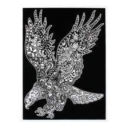 Colorvelvet Flocked Art Posters Large Eagle