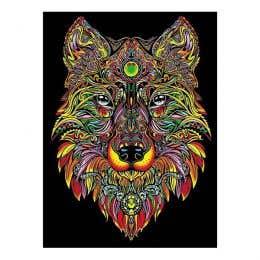 Colorvelvet Flocked Art Posters Mini Wolf