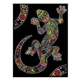 Colorvelvet Flocked Art Posters Mini Gecko