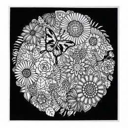 Colorvelvet Flocked Poster Art Large Mandala Flowers