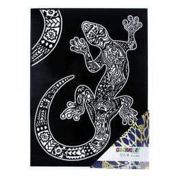 Colorvelvet Flocked Poster Art Large Gecko