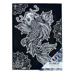 Colorvelvet Flocked Poster Art Large Koi Carp