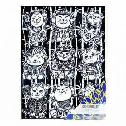 Colorvelvet Flocked Poster Art Large Lucky Cats