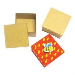 Little Paper Mache Mini Boxes Set 6