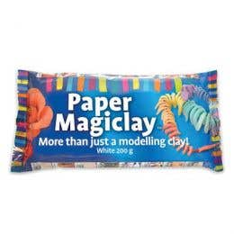 Paper Magiclay White Modelling Clay 200g