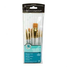 Royal Langnickel Clear Handle Assorted Brush Set