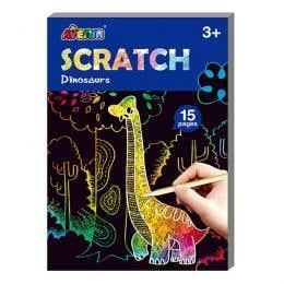 Avenir Mini Dinosaur Scratch Book