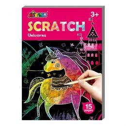 Avenir Mini Unicorn Scratch Book