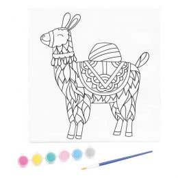 Kaisercraft Paint By Numbers Llama Kids Canvas