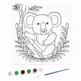 Kaisercraft Paint By Numbers Koala Kids Canvas