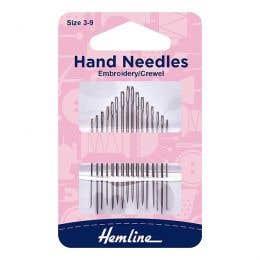 Hemline Hand Embroidery Crewel Needles