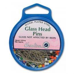 Hemline Glass Pin Head Pack