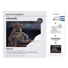 Kaisercraft Paint By Numbers Cheetah Canvas