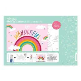 Kaisercraft Paint By Numbers Be Wonderful Kids Canvas