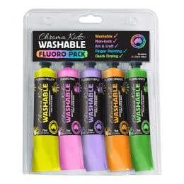 Chroma Kidz Washable Fluoro Paint Set