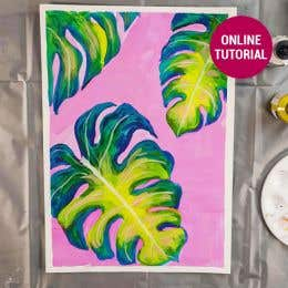 Atelier Inks Monstera Abstract Painting Online Tutorial