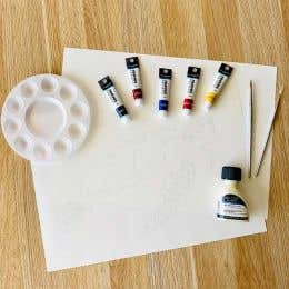 Reeves Water Colour Turtle Painting Kit