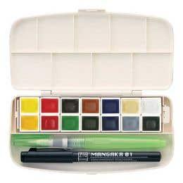 Kuretake Gansai Tambi Portable Watercolour Set