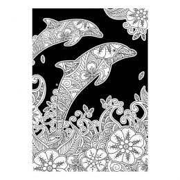 Colourme Velvet Dolphins Art Poster