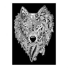 Colourme Velvet Wolf Art Poster