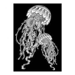 Colourme Velvet Jellyfish Art Poster