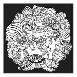 Colourme Velvet Sloth Art Poster