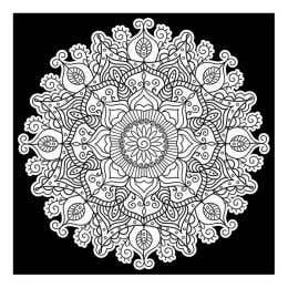 Colourme Velvet Mandala Art Poster