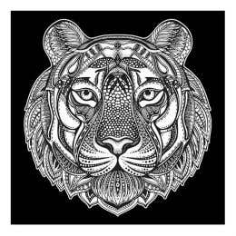 Colourme Velvet Tiger Art Poster