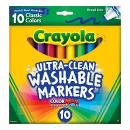 Crayola Ultra Clean Broad Line Washable Marker Packs