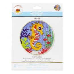 Lady Bird Sea Princess Long Stitch Round Kit