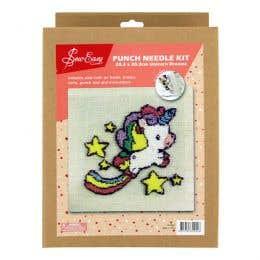 Sew Easy Unicorn Dreams Square Punch Needle Kit