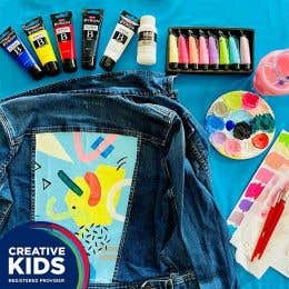 Creative Kids Denim Jacket Painting Kit