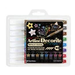 Artline Decorite Metallic Brush Marker Set