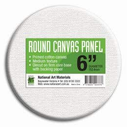 National Art Materials Round Canvas Panels