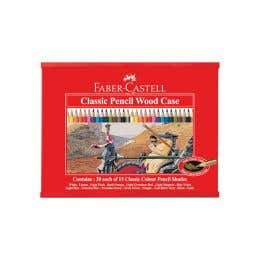 Faber-Castell Classic Colour Pencil Wooden Case