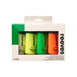 Reeves Acrylic 75ml Fluorescent Paint Set