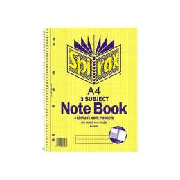 Spirax Subject Book