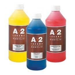 A>2 Art Students Acrylic Paints 1 Litre