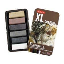 Derwent XL Charcoal Tin 6