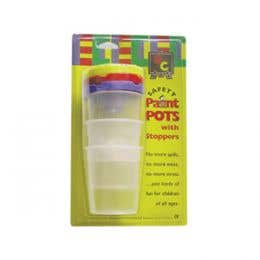 EC Safety Paint Pots & Stoppers Set 3