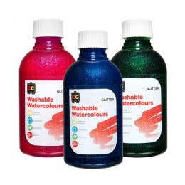 EC Washable Water Colour Glitter Paints 250ml