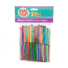 EDUcraft Match Sticks Coloured Pack 1000